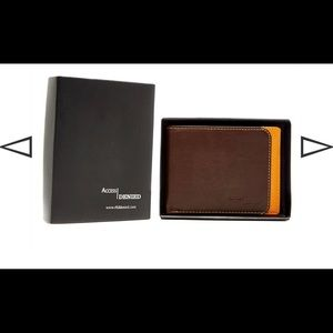 Brand New RFID Brown Two Tone Leather Wallet